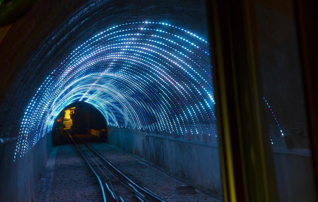 Wellington Cable Car Photos - Car light show