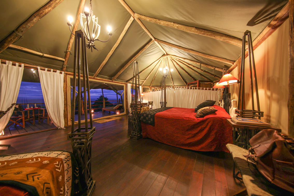 kilima camp deluxe tent