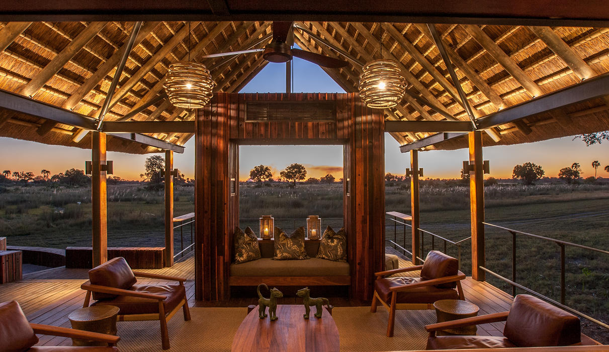 View over the floodplain from the bar