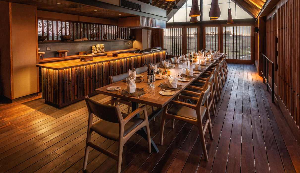 Family-style dining is enjoyed at Chitabe