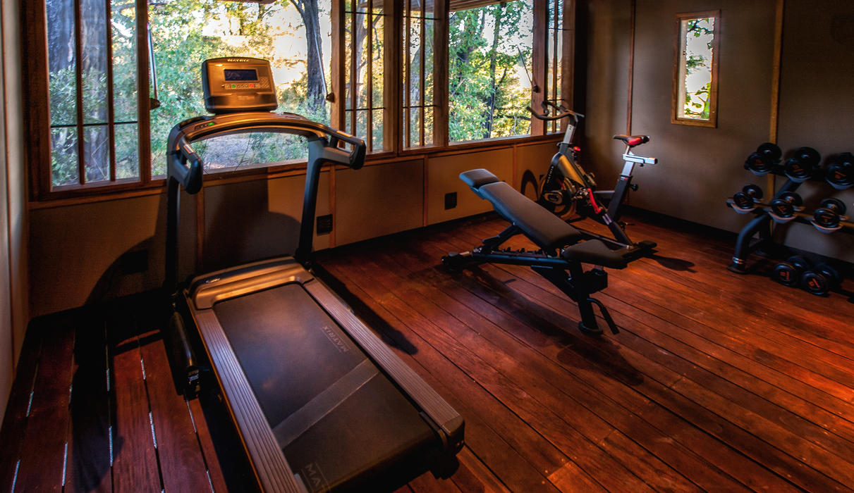 The gym at Chitabe