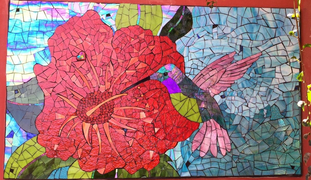 Installation by the Santa Barbara School of Mosaic Art