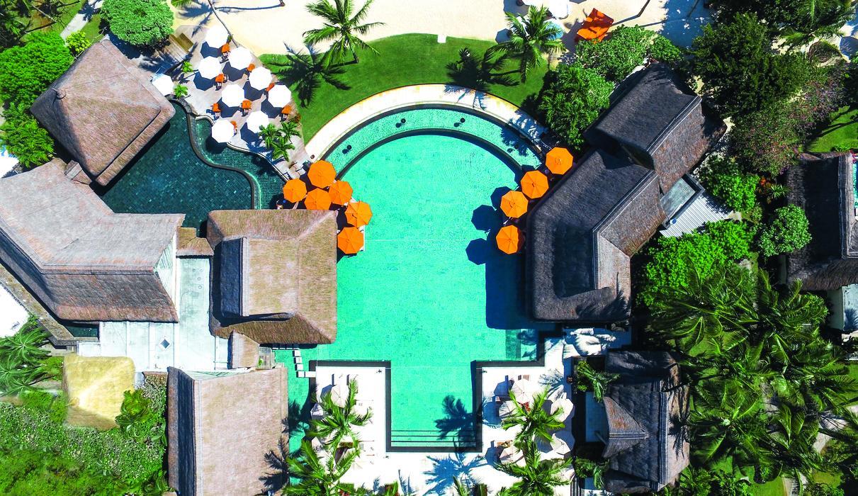 Main pool aerial view