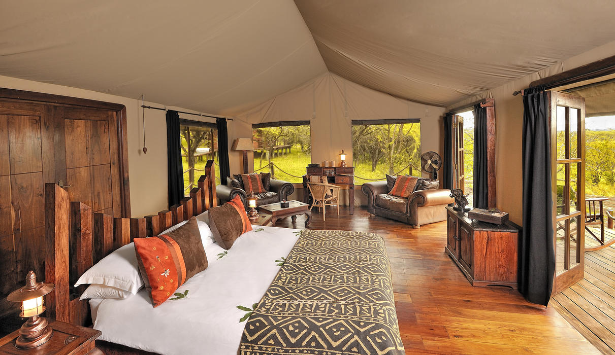 Luxury safari tent interior