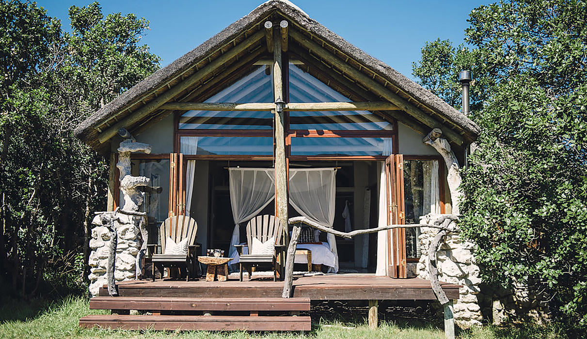 Mosaic Lagoon Lodge Suites built within a milkwood grove