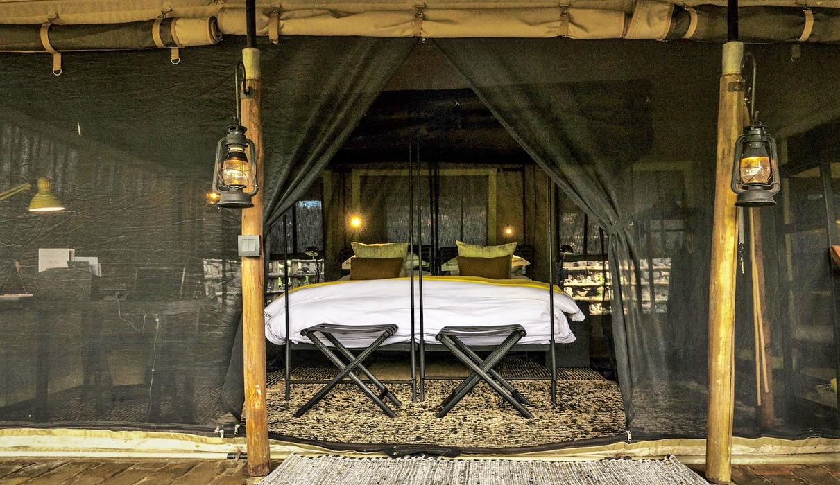 Each large tent offers ultra-luxurious accommodation