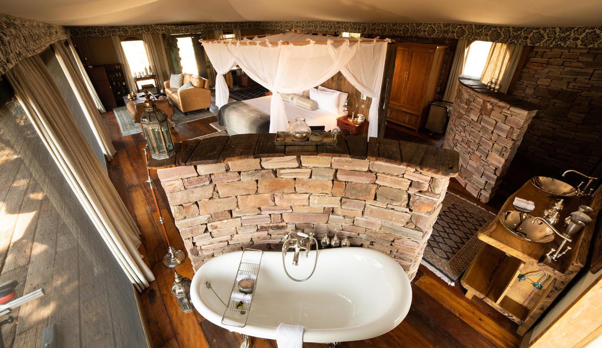 Mpala Jena Guest Tent Bathroom