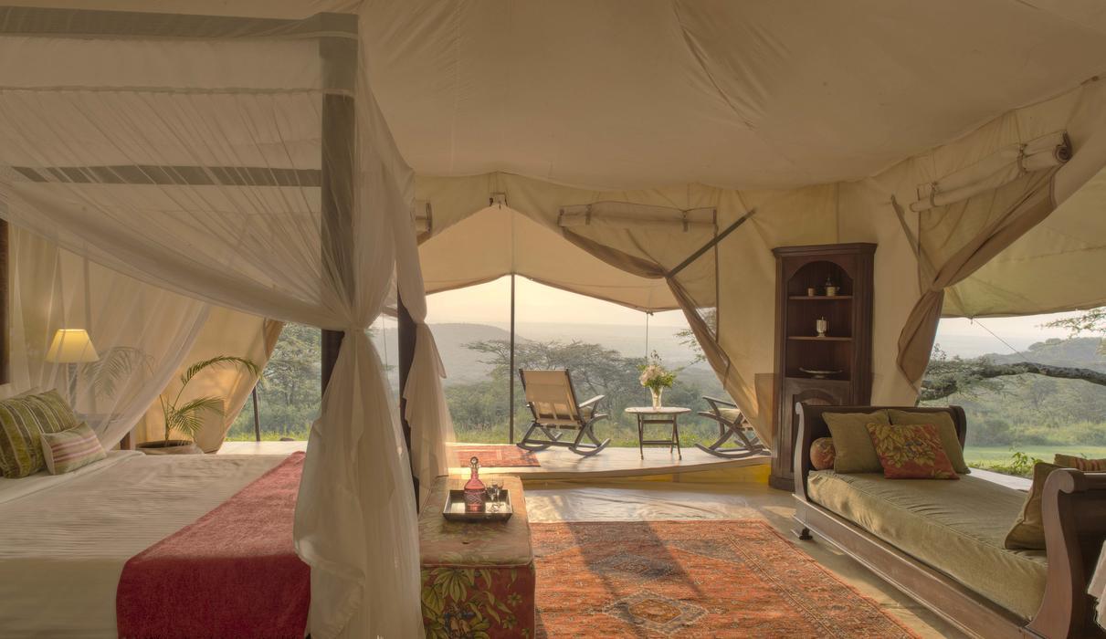Double Luxury Tent interior