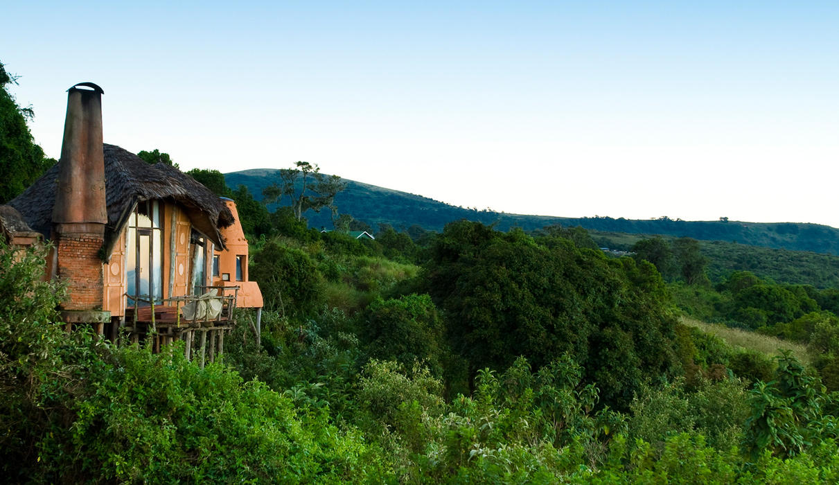 Perched on the edge of the famous Ngorongoro Crater in Tanzania