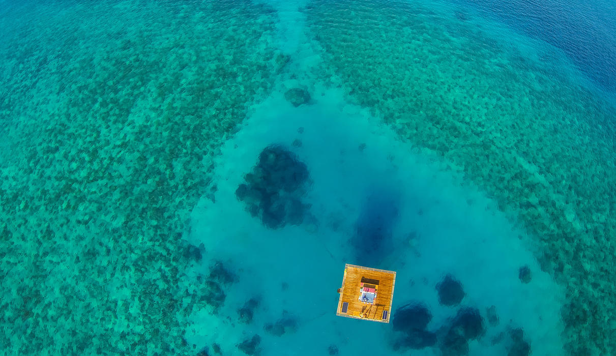 Above Image of The Underwater Room