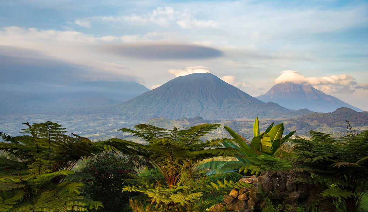 Views of the Volcanoes from the Lodge