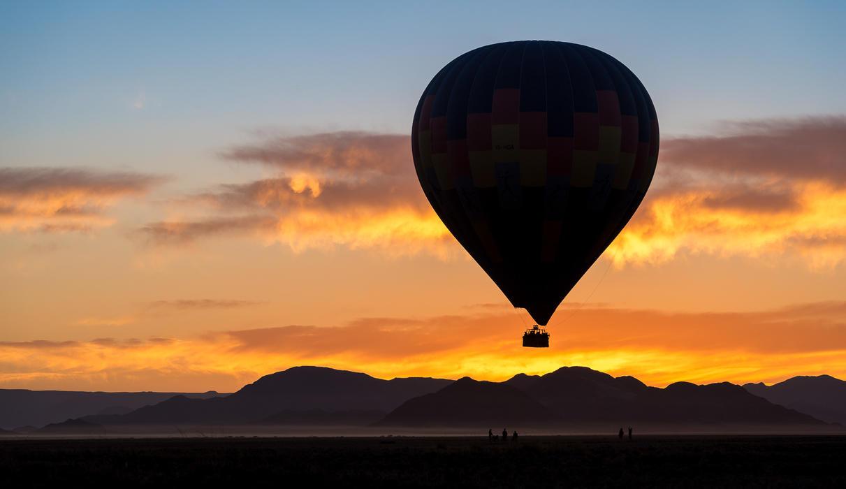 A sunrise hot air balloon flight over the Namib Desert is a must-do