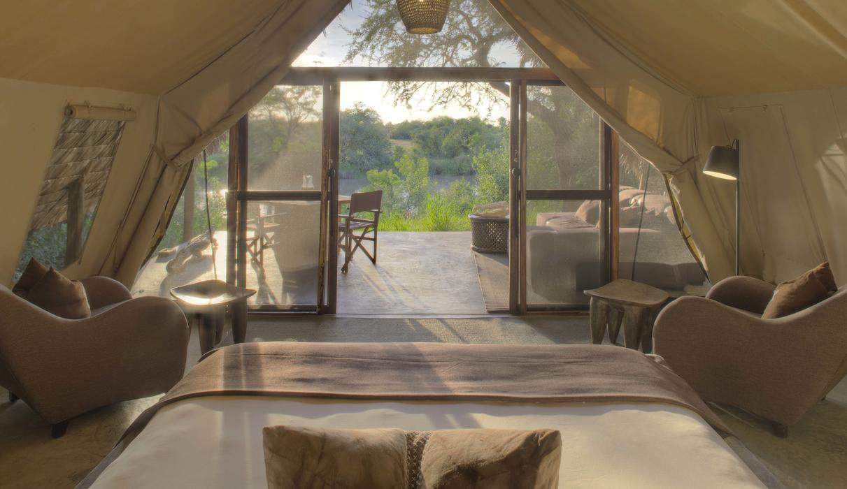 Rustic yet sophisticated, intimate tents