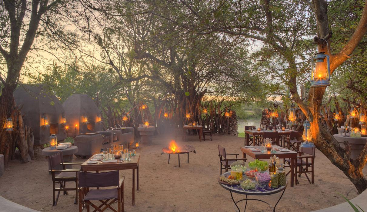 Star-studded romantic dinners are enjoyed in the boma