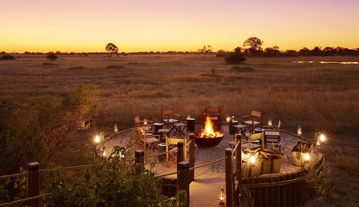 Fir-pit at sunset