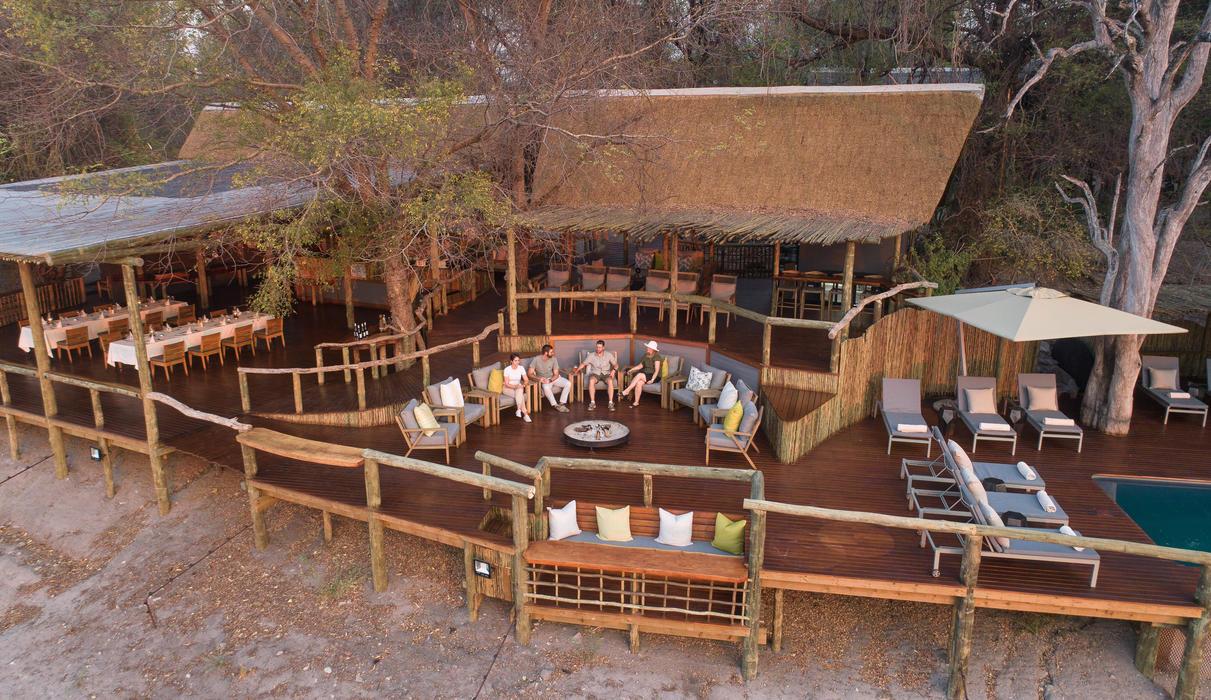 The newly build main area at Savute Safari Lodge