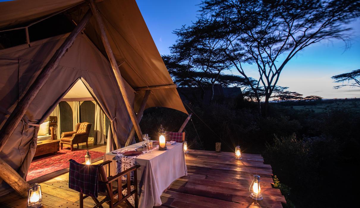 Mara Nyika Tent Bedroom and Deck