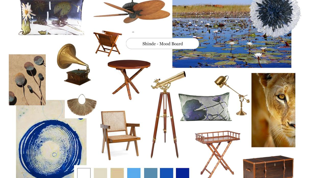 Our aim is to bring elements of the Okavango flowing into the camp with lily pad and other fauna artwork in brass and copper.