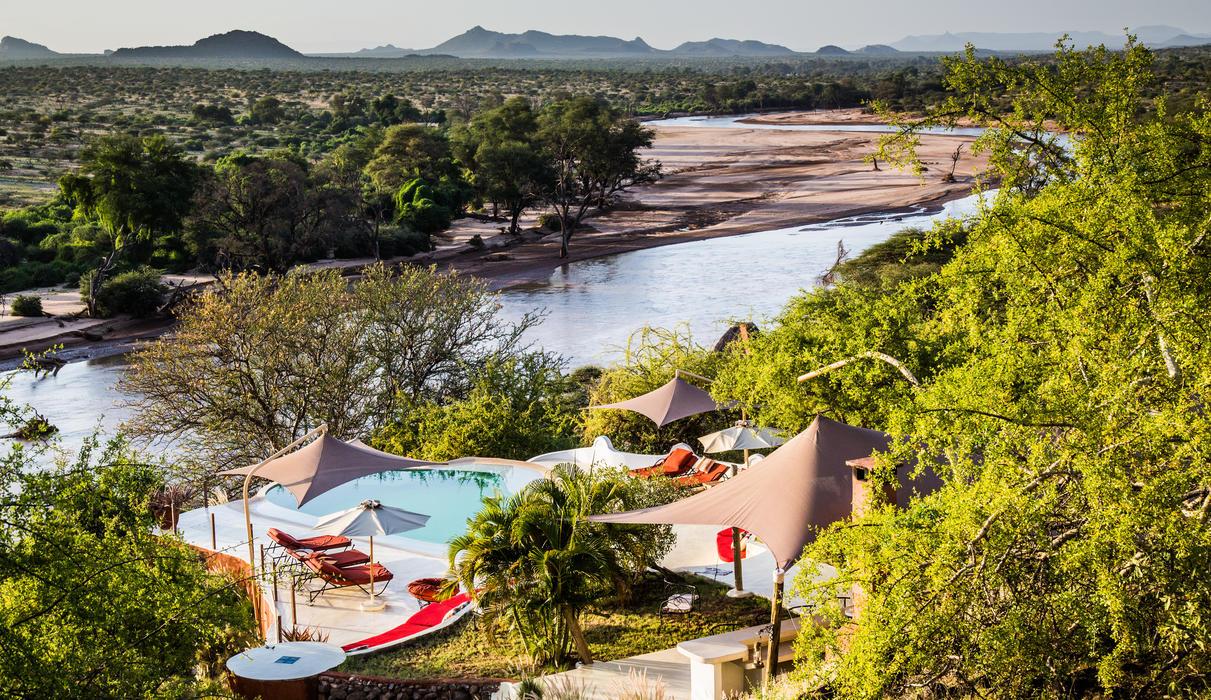 Sasaab is beautifully set overlooking the Ewaso Nyiro River