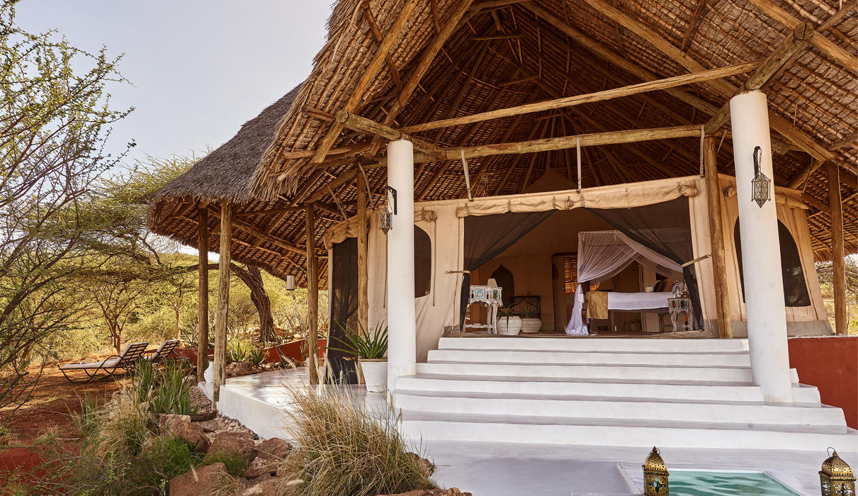 Exterior view of a suite and plunge pool