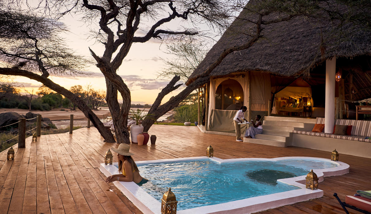 Private plunge pool of the family unit