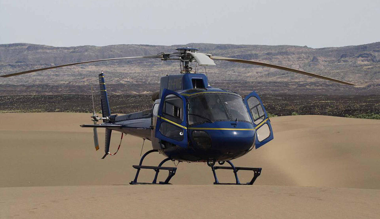 The Safari Collection's helicopter
