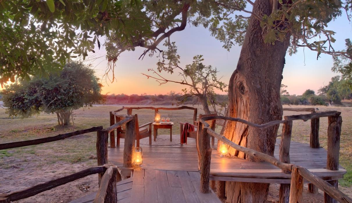 Private decks overlooking the African bush