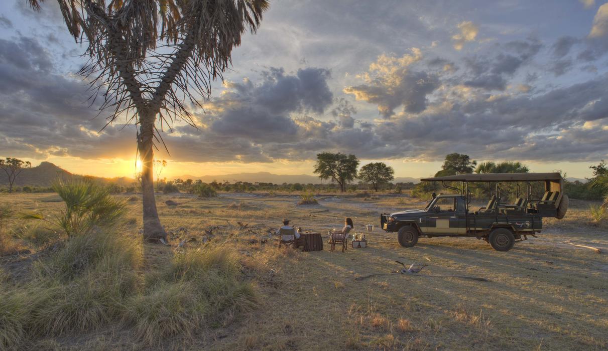Sundowners overlooking the endless African horizon