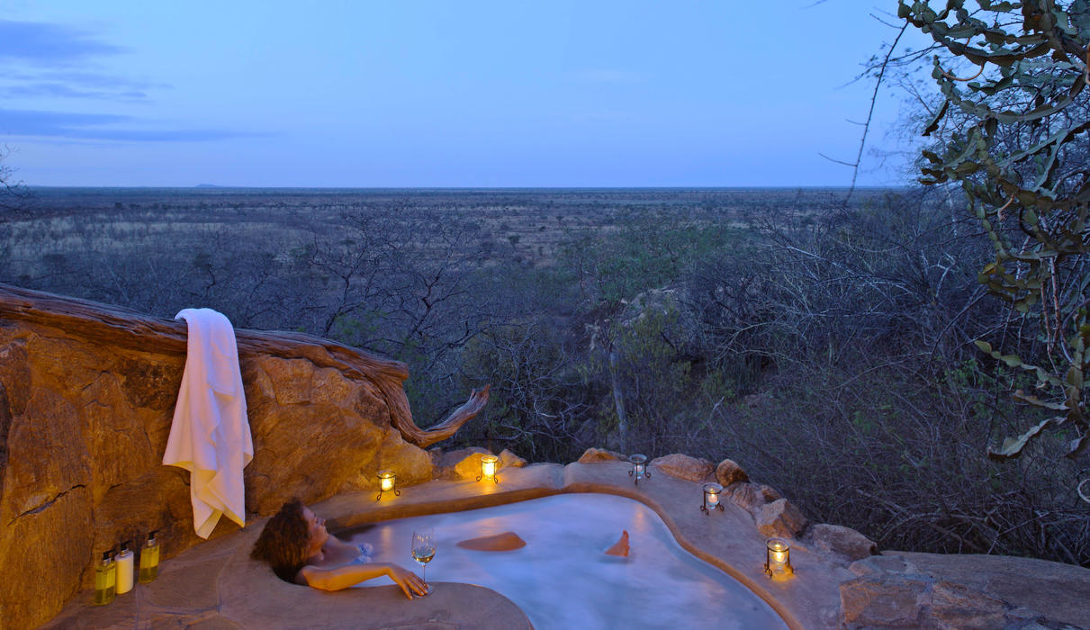Luxuriate in the ultimate bath with a view- a Honeymoon cottage