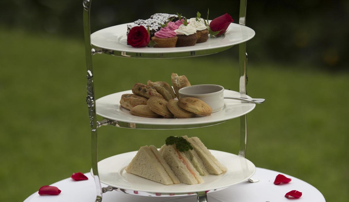 High tea in the Manor gardens