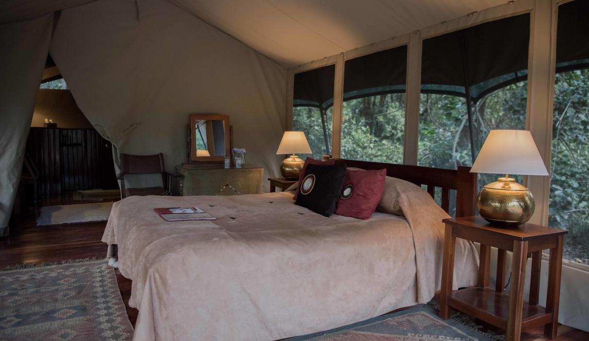 Private Camp tent interior
