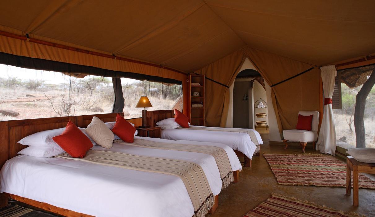 A spacious triple tent