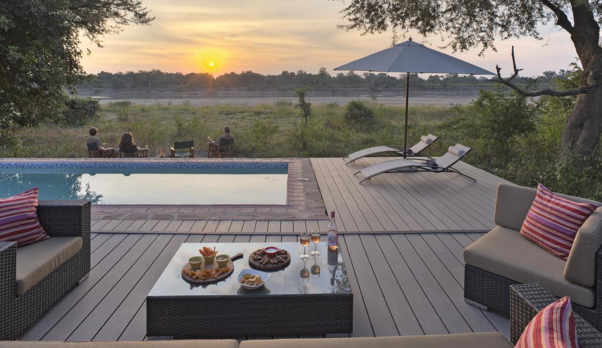 New in 2015, the Nest has two ensuite bedrooms with separate indoor & outdoor living areas and private pool.  The Croc Nest comes with private vehicle & safari guide.