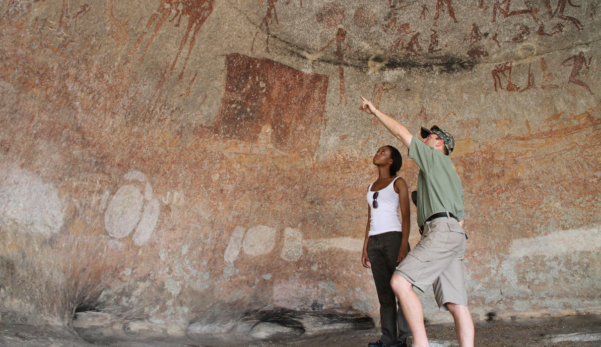 The incredible rock art paintings found at Silosizwane Cave dating back 10 thousand years.