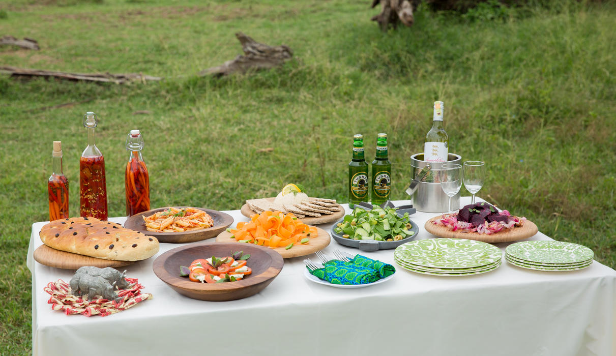 Mouthwatering lunches served in the bush