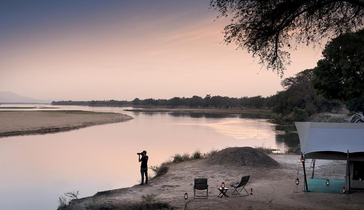 Sundowners by the Zambezi River
