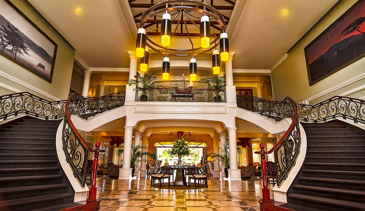 Hemingways Nairobi Lobby Stairway Entrance day time