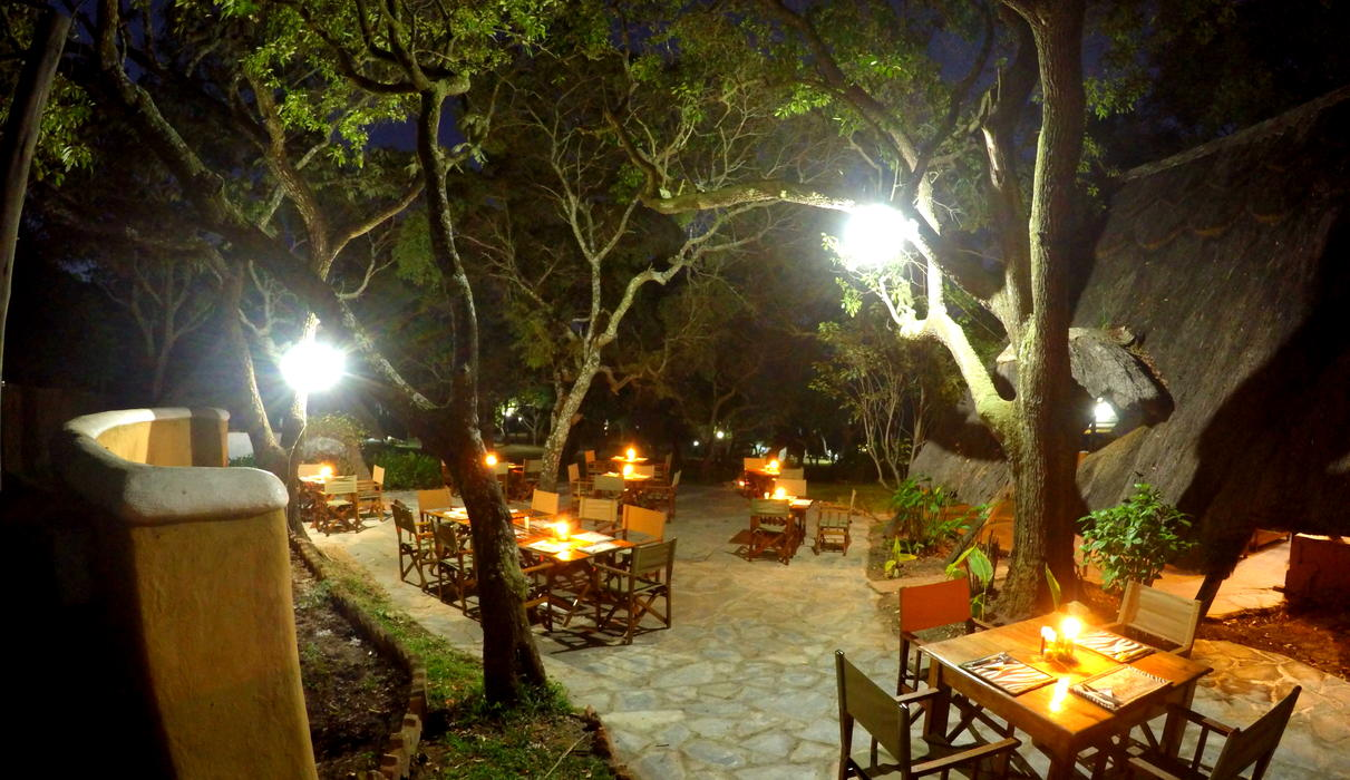 We have a bar and restaurant with good selection of drinks and candle lit evening meals.