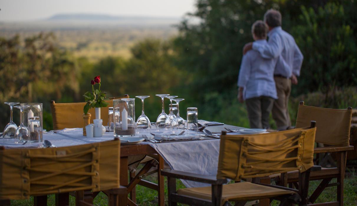 Romantic dining under the stars