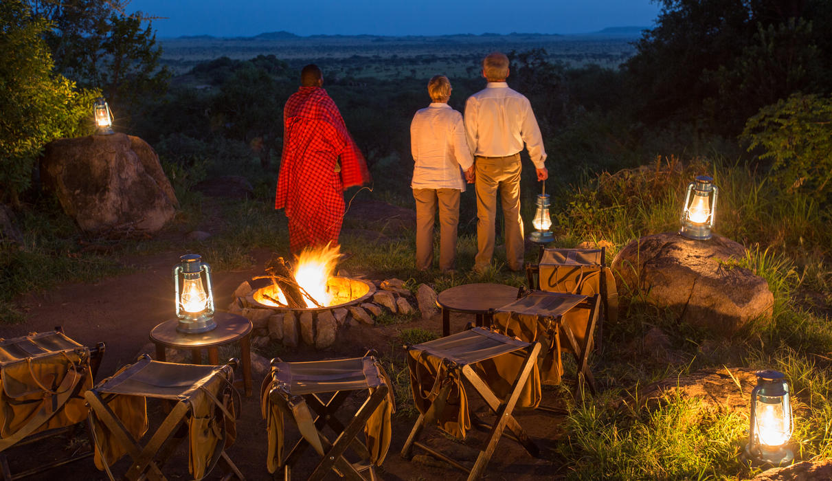 Enjoy the sounds of the African bush by the light of a campfire