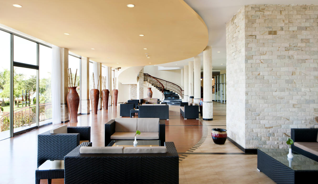 With elegant furnishings and a warm, inviting feel, the hotel's decor and rooms create a luxurious atmosphere.