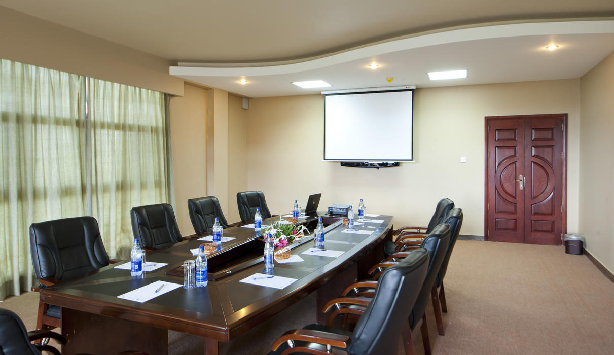 Protea Hotel Entebbe's conference venue can accommodate a maximum of 350 delegates. The various room styles depict the number, with the maximum in cinema style. A boardroom set up can accommodate a maximum of 52 delegates and 200 in a banquet style. There are various conferencing packages available for groups.