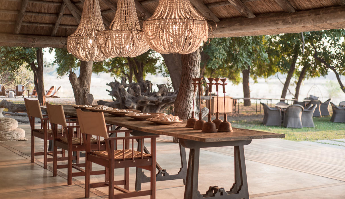 Family-style dining is a feature of the relaxed atmosphere at Chikwenya