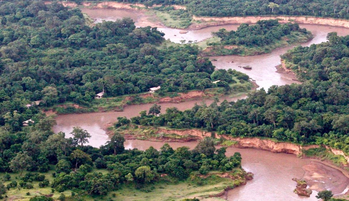 Camp sitting in the forest along Mara River