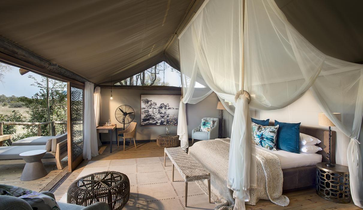 Honeymoon tent interior