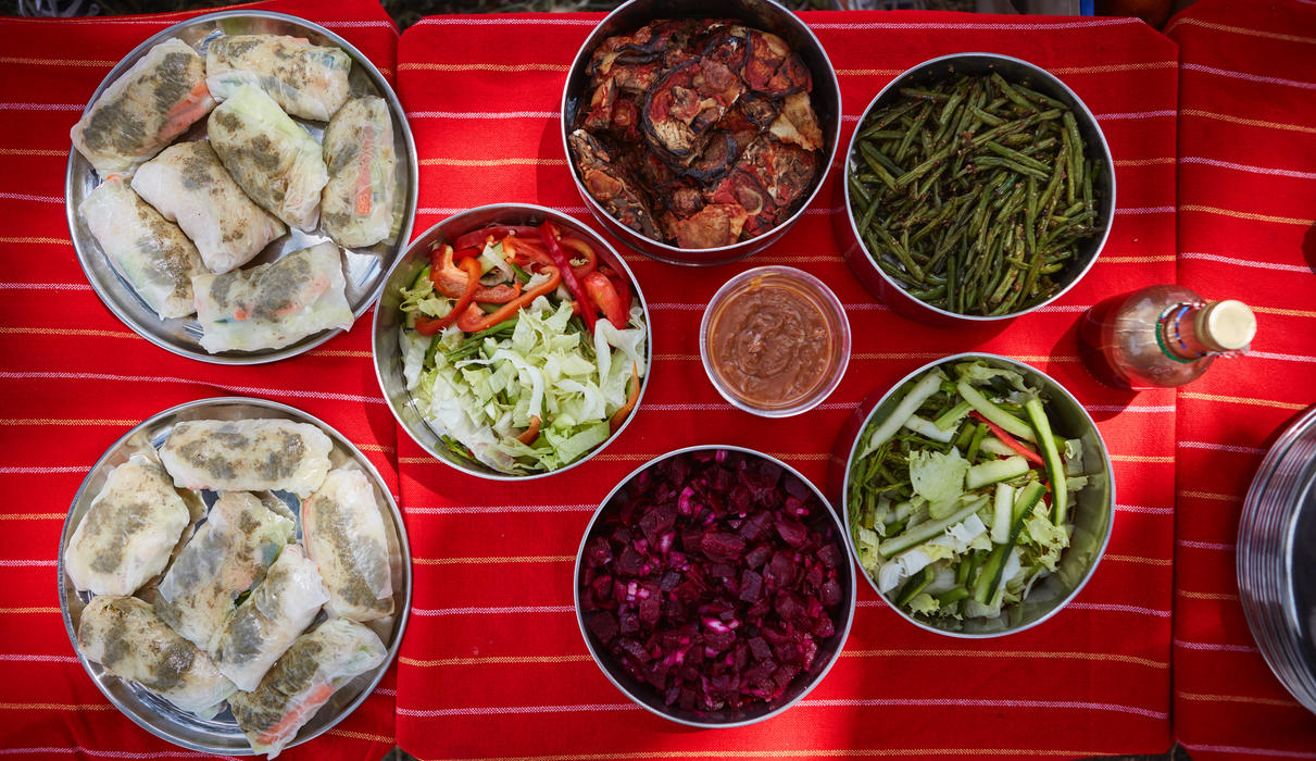 Delicious picnic lunches