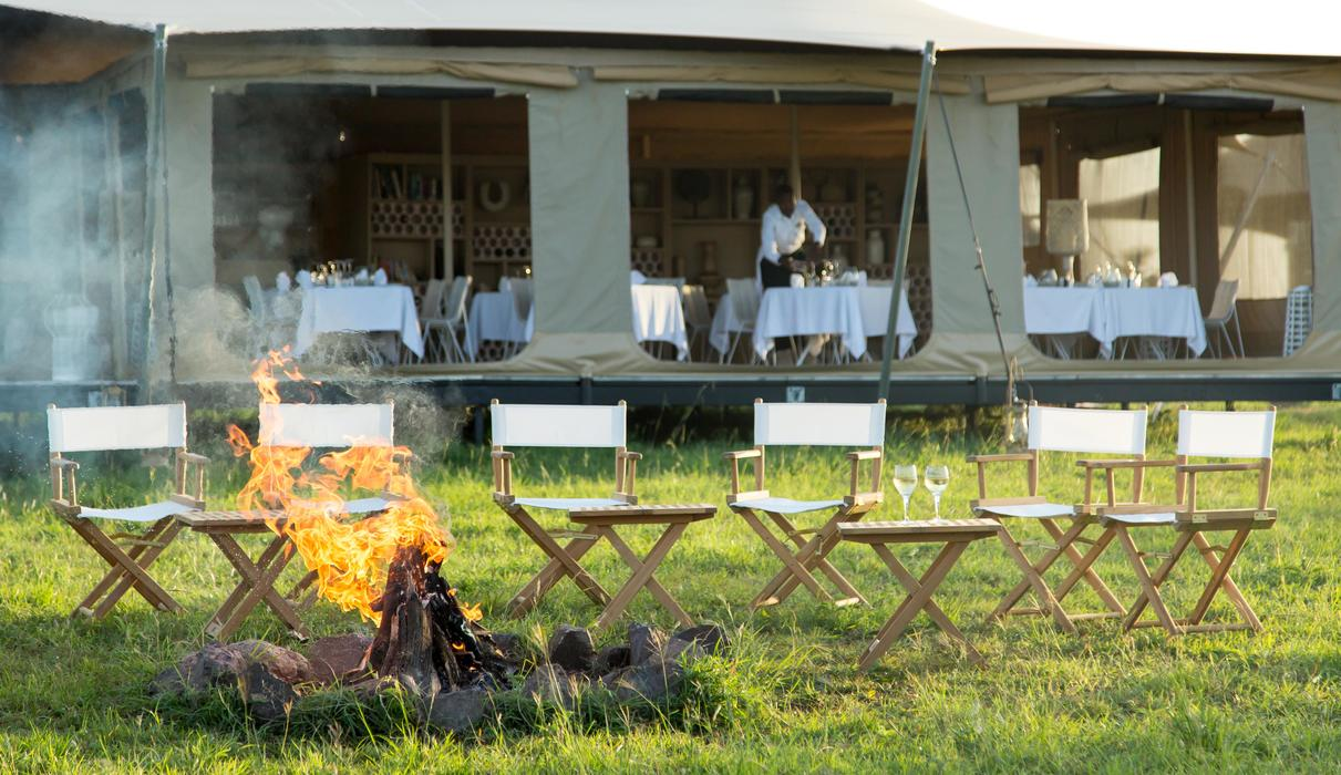 we invite you to pre dinner drinks by the camp fire