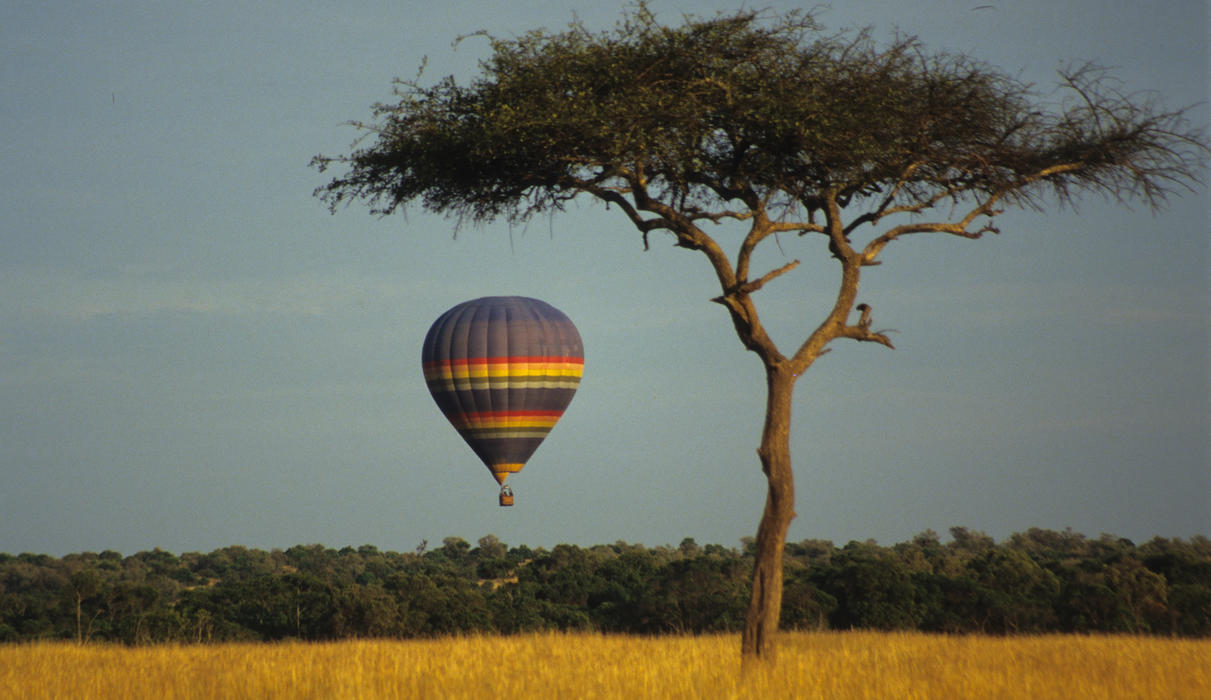 you can book a hot air balloon safari or simply watch the sunrise from your bed and see the balloon sail past Camp in the early morning