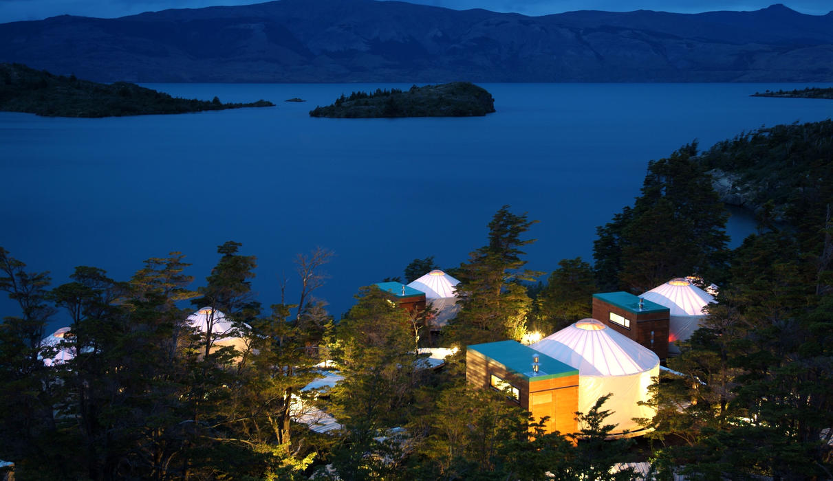 Patagonia Camp at night
