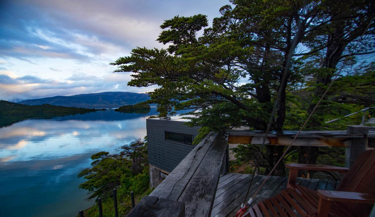 Patagonia Camp Yurt balcony
